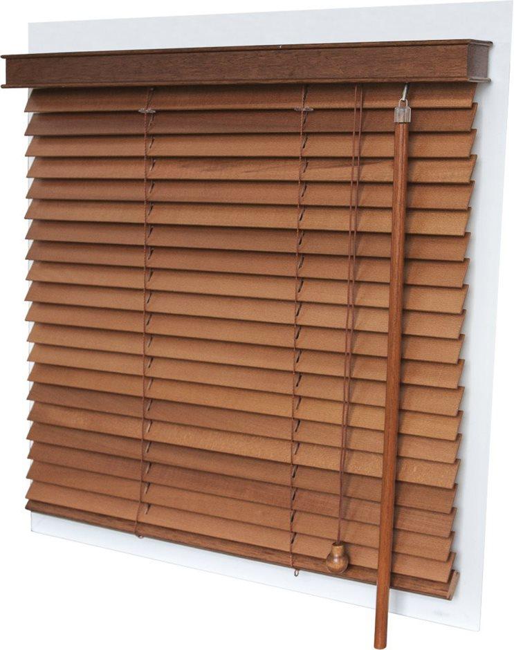 Горизонтальные деревянные жалюзи 25 мм